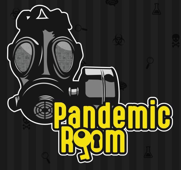 logo firmy Pandemic room . úniková místnost