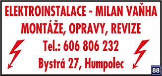 logo firmy Elektroinstalace - Milan Vaòha