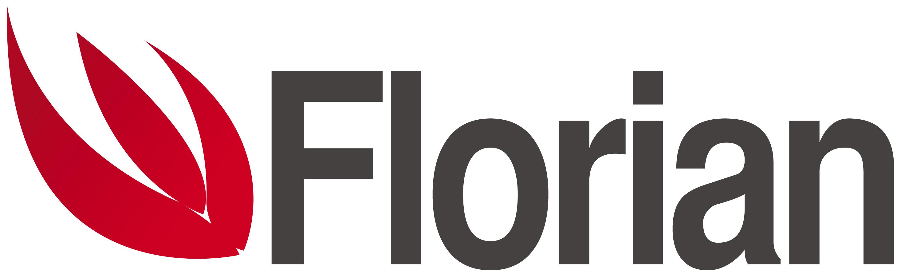 logo firmy FLORIAN-TOVÁRNA NA KOMÍNY