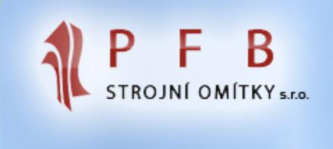 logo firmy PFB STROJNÍ OMÍTKY