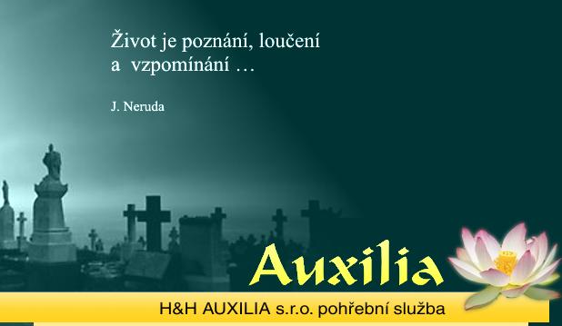 logo firmy Auxilia Pohøební služba Nový Bor