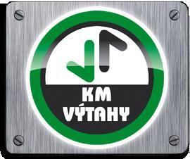 logo firmy KM výtahy s.r.o.
