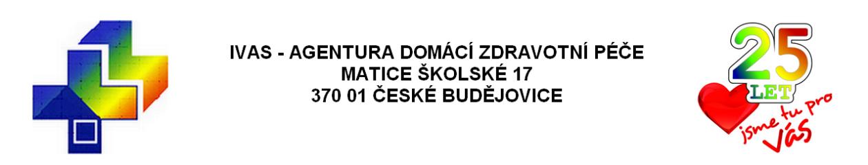 logo firmy  IVAS – domácí zdravotní a hospicová péèe v Èeských Budìjovicích a okol