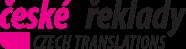 logo firmy České překlady s.r.o.