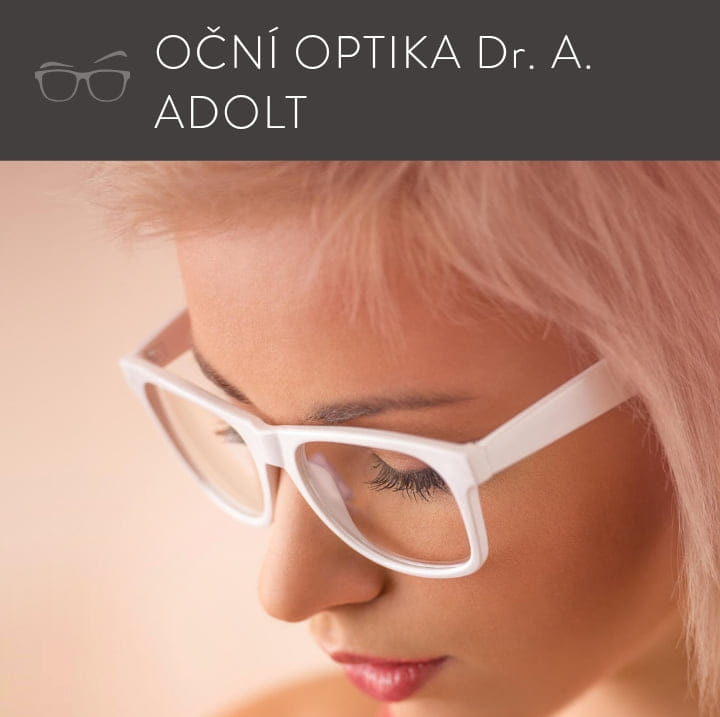 logo firmy OČNÍ OPTIKA Dr. A. ADOLT