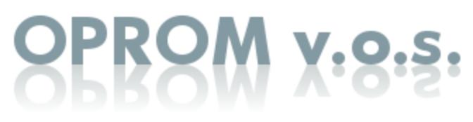 logo firmy OPROM v.o.s.
