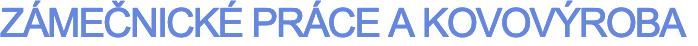 logo firmy Zámečnické práce a kovovýroba