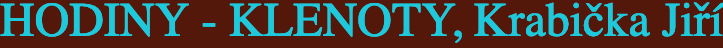 logo firmy HODINY, KLENOTY - JIŘÍ KRABIČKA