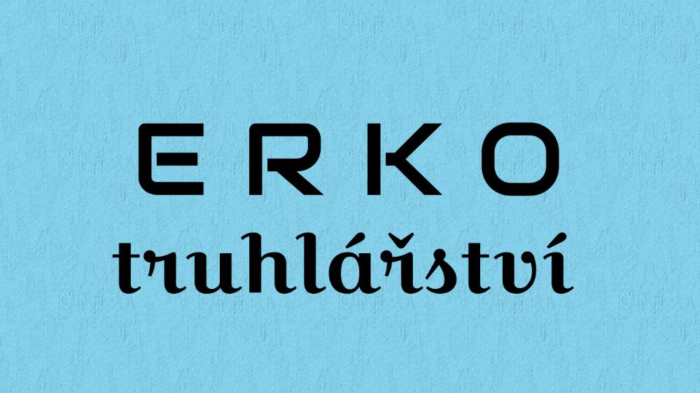 logo firmy ERKO truhlářství, interiéry Plzeň