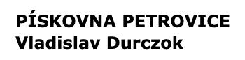 logo firmy PÍSKOVNA PETROVICE
