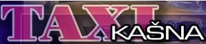 logo firmy Taxi – autopůjčovna – přeprava