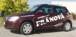 logo firmy Autoškola A+J FRÁNOVÁ - Přeštice
