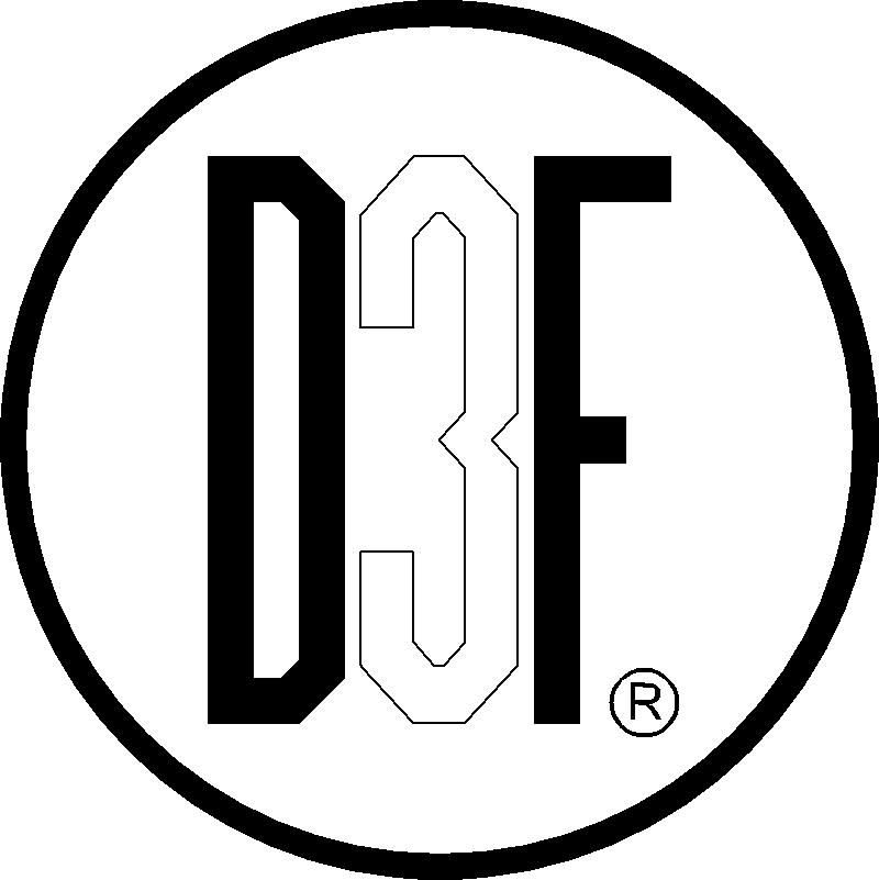logo firmy D3F Interiér s.r.o