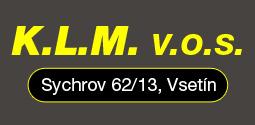 logo firmy Vodohospodáøské stavby a zemní práce - K.L.M. v.o.s.