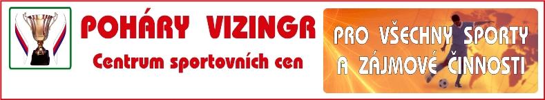 logo firmy Poháry Vizingr - centrum sportovních cen