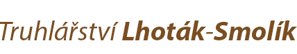logo firmy Truhlářství Lhoták–Smolík