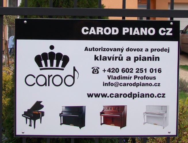 logo firmy CAROD PIANO CZ