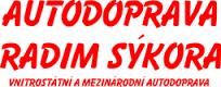 logo firmy Autodoprava - Radim Sýkora