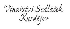 logo firmy Vinaøství Sedláèek Kurdìjov