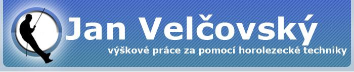 logo firmy Jan Velčovský - práce ve výškách.s.r.o