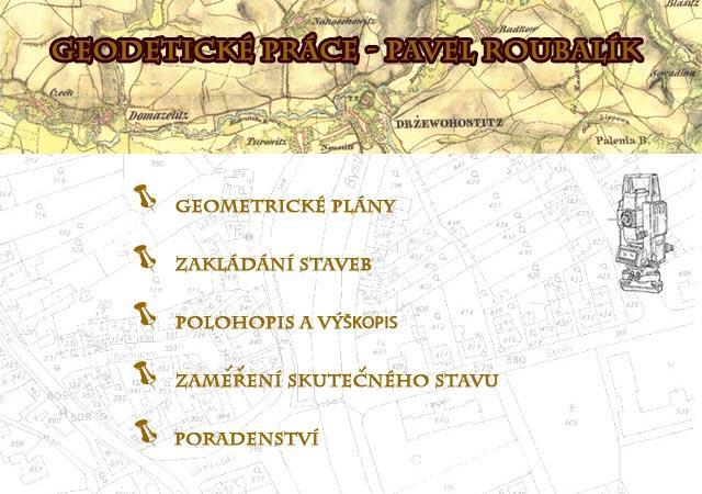 logo firmy  Geodetické práce - Pavel Roubalík