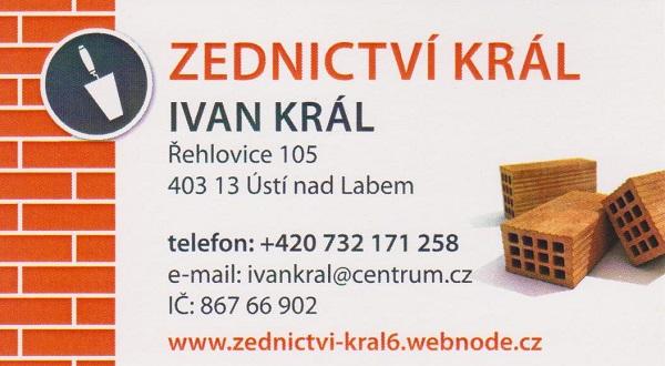 logo firmy Zednictví KRÁL