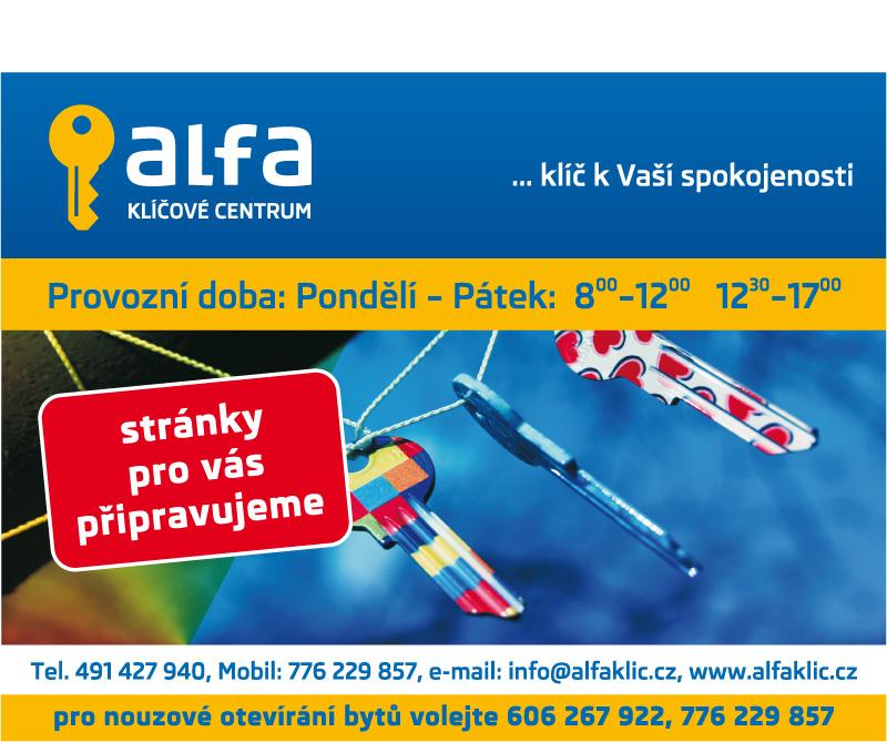 logo firmy Roman Košek - ALFA, klíèové centrum