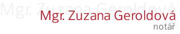 logo firmy GEROLDOVÁ ZUZANA Mgr. - Notáø