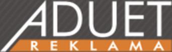 logo firmy ADUET reklama