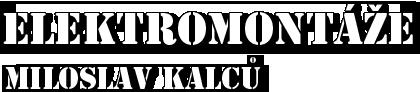 logo firmy Elektromontáže Miloslav Kalců