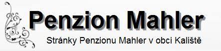 logo firmy Penzion Mahler v obci Kaliště