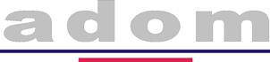 logo firmy ADOM