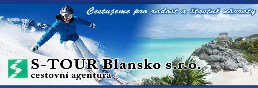 logo firmy Cestovní agentura - S-TOUR Blansko, s.r.o