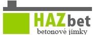 logo firmy HAZbet - betonové jímky