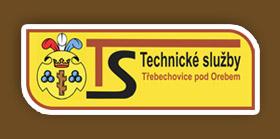 logo firmy TECHNICKÉ SLUŽBY TŘEBECHOVICE POD OREBEM