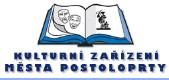 logo firmy MĚSTSKÁ KNIHOVNA Postoloprty